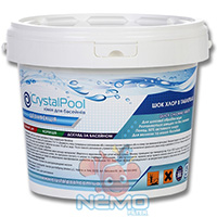 Фото 8 - Хлор шок CRYSTAL POOL Quick Chlorine Tablets 5кг (таблетки 20г)