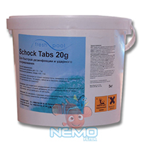 Фото 10 - Хлор шок FRESH POOL Schock Tabs 5кг (таблетки 20г)