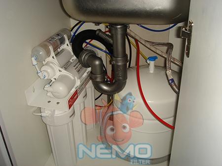 Пример установки фильтра обратного осмоса НОВАЯ ВОДА NW-RO604