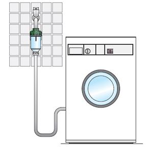 Схема подключения солевого фильтра к стиральной машине