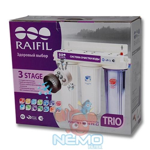 Упаковка фильтра под мойку RAIFIL Trio